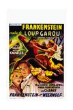Frankenstein Meets the Wolf Man  (AKA Frankenstein Contre Le Loup Garou)  Belgian Poster  1943
