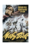 Moby Dick  Gregory Peck on Italian Poster Art  1956