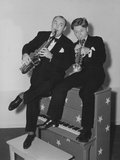 Strike Up the Band  from Left: Paul Whiteman  Mickey Rooney on Set  1940