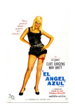 The Blue Angel  (AKA El Angel Azul)  Argentine Poster  May Britt  1959