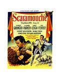 Scaramouche  Eleanor Parker  Stewart Granger  (Belgian Poster Art)  1952