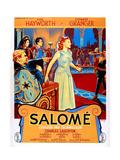 Salome  Charles Laughton (Left)  Rita Hayworth (Center)  (French Poster Art)  1953