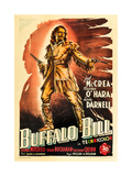Buffalo Bill  Joel Mccrea on Italian Poster Art  1944