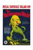 The Lost World  (AKA En Forsvunnen Varld)  Swedish Poster Art  1925
