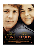 Love Story  from Left: Ryan O'Neal  Ali Macgraw on French Poster Art  1970