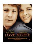 Love Story  Ryan O'Neal  Ali Macgraw  French Poster Art  1970
