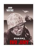 Sands of Iwo Jima  (AKA Iwo Jimy)  John Wayne on Polish Poster Art  1949