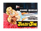 Jules and Jim  (AKA Jules Et Jim)  L-R: Henri Serre  Jeanne Moreau on British Poster Art  1962
