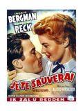 Spellbound  from Left: Gregory Peck  Ingrid Bergman on Belgian Poster Art  1945