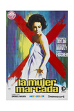Butterfield 8  (AKA La Mujer Marcada)  Elizabeth Taylor on Spanish Poster Art  1960