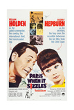 Paris When it Sizzles  Canadian Poster  from Left: William Holden  Audrey Hepburn  1964