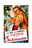 Saboteur  (AKA Saboteador)  Robert Cummings  Priscilla Lane  (Argentine Poster Art)  1942