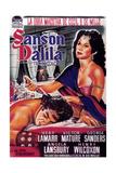 Samson and Delilah  Spanish Poster Art  1949