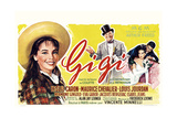 Gigi  from Left: Leslie Caron  Maurice Chevalier  Louis Jourdan  Leslie Caron (Seated)  1958
