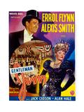 Gentleman Jim  (From Left): Errol Flynn  Alexis Smith  (Belgian Poster Art)  1942
