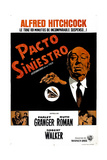 Strangers on a Train  (AKA Pacto Siniestro)  Argentine Poster Art  Director Alfred Hitchcock  1951