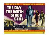 The Day the Earth Stood Still  British Poster Art  Lock Martin  Patricia Neal  Michael Rennie  1951