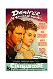 Desiree  from Left: Marlon Brando as Napoleon  Jean Simmons  (Spanish Poster Art)  1954