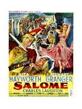 Salome  Stewart Granger (Left)  Rita Hayworth (Right)  (Belgian Poster Art)  1953