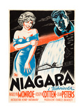 Niagara  L-R: Marilyn Monroe  Joseph Cotten on Danish Poster Art  1953