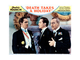 Death Takes a Holiday  from Left: Fredric March  Kent Taylor  Guy Standing  1934