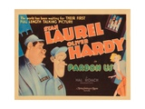 Pardon Us  Titlecard  Front  from Left: Oliver Hardy  Stan Laurel  1931