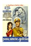 Bread  Love and Jealousy  (AKA Frisky  AKA Pane  Amore E Gelosia)  Italian Poster Art  1954