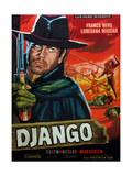 Django  from Left on French Poster Art: Franco Nero  Loredana Nusciak (Tied to Poles)  1966