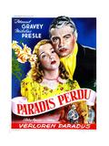 Four Flights to Love  (AKA Paradis Perdu)  Fernand Gravey  Micheline Presle  French Poster  1940