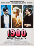 1900  French Poster Art  from Left: Robert De Niro  Dominique Sanda  Gerard Depardieu  1976