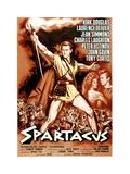 Spartacus  Kirk Douglas  (Italian Poster Art)  1960