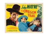 The Oregon Trail  John Wayne (Left and Center)  Harry Harvey (Right)  1936
