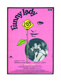 Funny Lady  in Circular Photo  from Left: James Caan  Barbra Streisand; Spanish Poster  1975