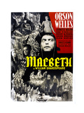 Macbeth  Italian Poster Art  Jeanette Nolan (Top  Center)  Orson Welles (Center)  1948