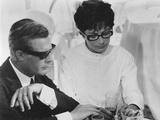 8 1/2  from Left: Marcello Mastroianni  Anouk Aimee  1963