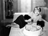 Clara Bow  Celebrating Her 25th Birthday on the Set of Her Wedding Night  July 1930