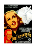 To Be or Not to Be  (AKA Jeu Dangereux)  Jack Benny  Carole Lombard  (French Poster Art)  1942