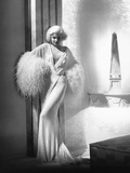 Dinner at Eight  Jean Harlow  in a Negligee by Adrian  1933