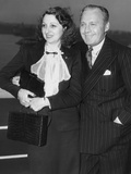 From Left: Mary Livingstone  Jack Benny  1937