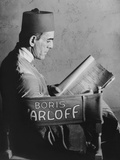 The Mummy  Boris Karloff Reading the Script on Set  1932
