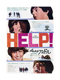 Help!  The Beatles  Japanese Poster Art  1965
