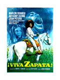 Viva Zapata!  Jean Peters  Marlon Brando  Anthony Quinn  (Spanish Poster Art)  1952