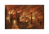 The Great Fire of London  seen from Newgate  1666