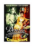 Desiree  from Left: Marlon Brando  Jean Simmons on German Poster Art  1954