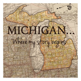 Story Michigan Reproduction d'art