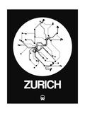 Zurich White Subway Map