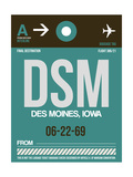 DSM Des Moines Luggage Tag II