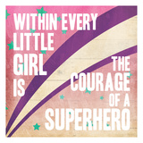 Superhero Girl Mate Reproduction d'art