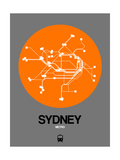 Sydney Orange Subway Map