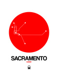 Sacramento Red Subway Map